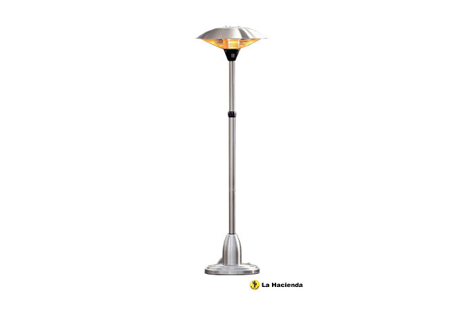 La Hacienda Adjustable Standing 2100w Halogen Patio Heater