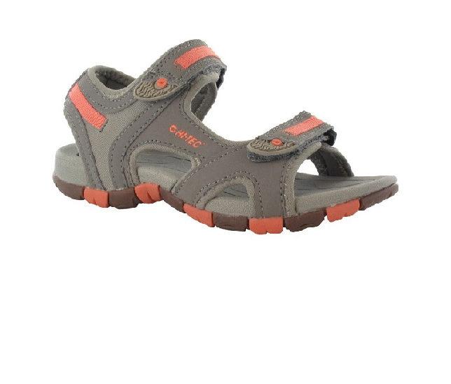Hi-Tec GT Strap Junior Sandal Grey Peachy