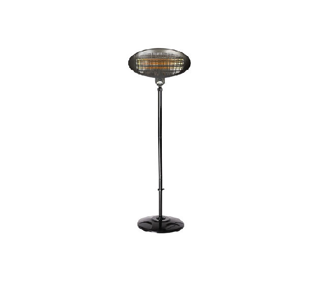 La Hacienda Adjustable Height Quartz Heater - Black
