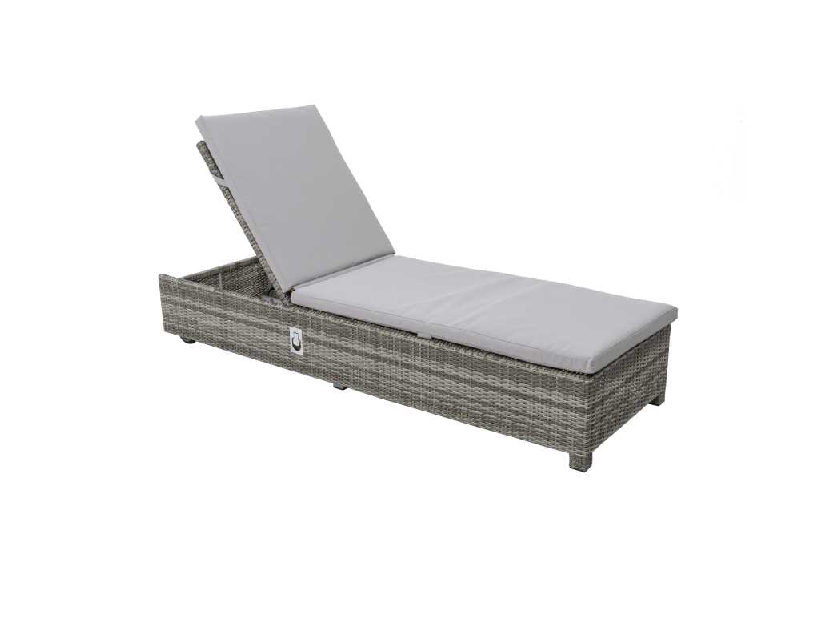 Life Outdoor Living Aya Lounger with All Weather Cushion  - Yacht Grey
