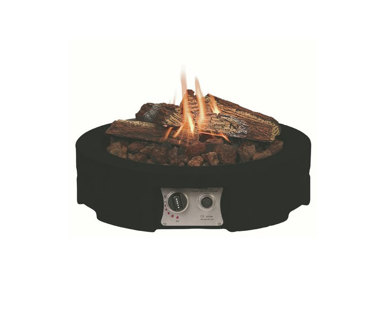 Happy Cocooning Round Table Top Gas Firepit