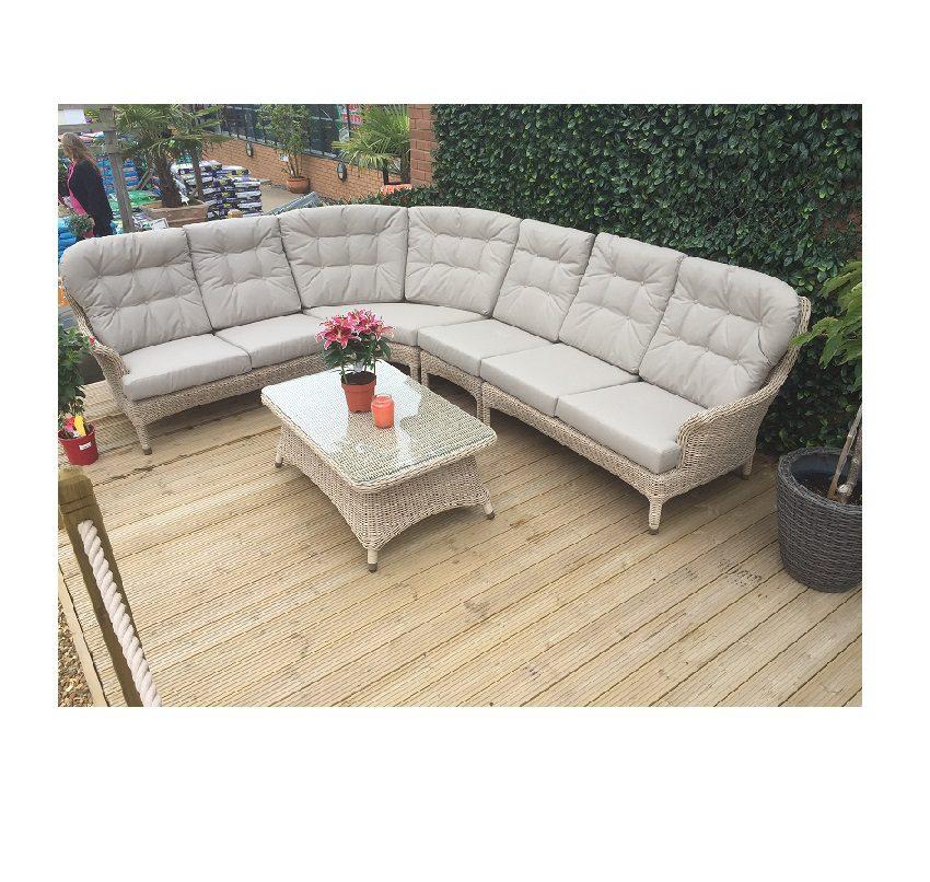 4 Seasons Outdoor Buckingham Modular Lounge Set - Praia Weave