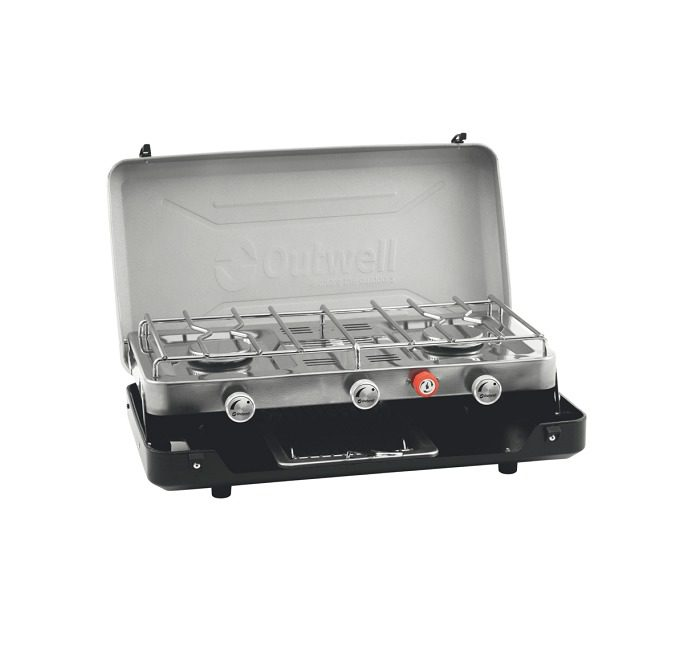 Outwell Gourmet Cooker 3-Burner Stove with Grill
