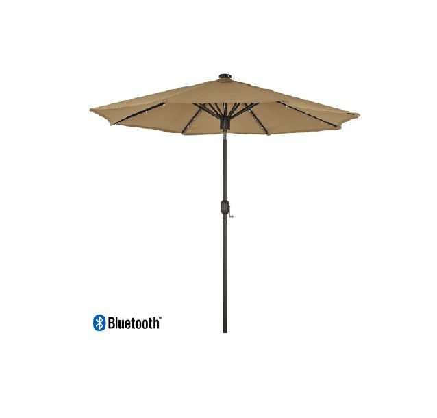 Kensington 3m Solar Parasol with LED Lights and Bluetooth Speaker