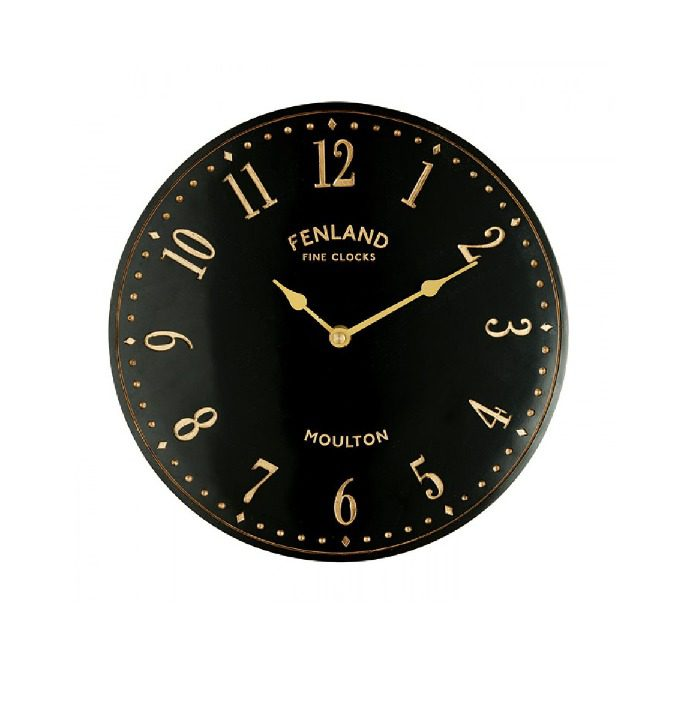 The Garden & Home Co Black Stable Clock