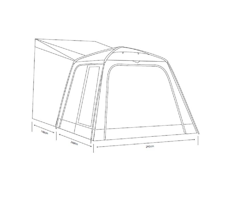 Outdoor Revolution Cayman Tailgate Driveaway Awning 2017