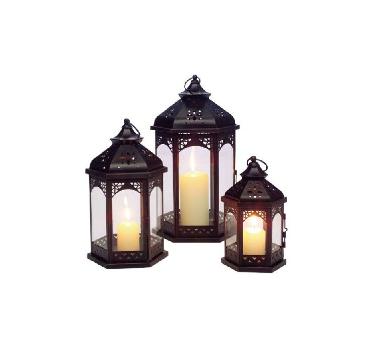 Gardman 3 Zanzibar Lantern Set