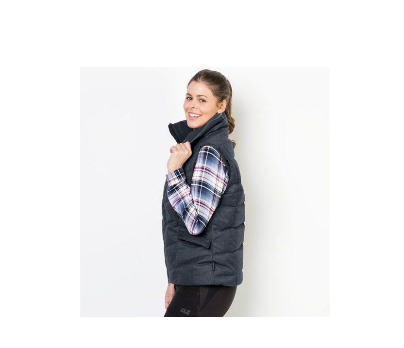 Jack Wolfskin Baffin Bay Vest Womens Gilet - Night Blue