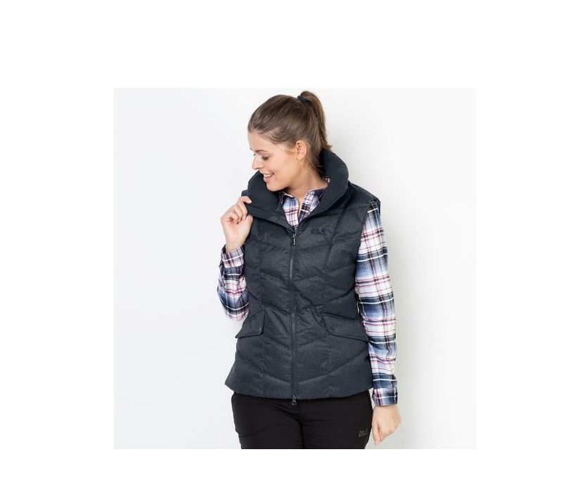 Jack Wolfskin Baffin Bay Vest Womens Gilet - Night Blue