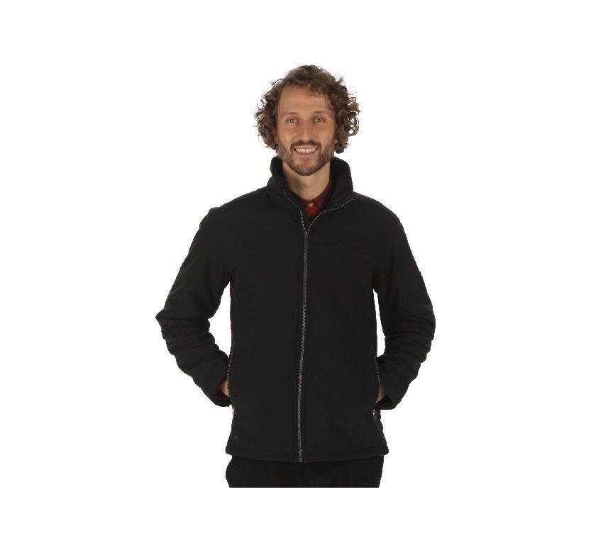 Regatta Castiel Sherpa Backed Windproof Jacket - Black