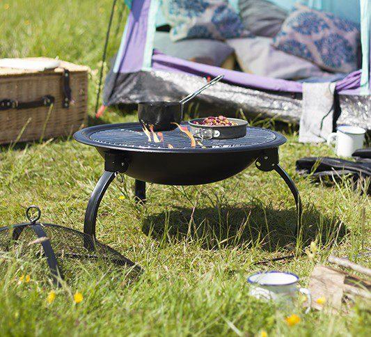 La Hacienda Camping Firepit grill
