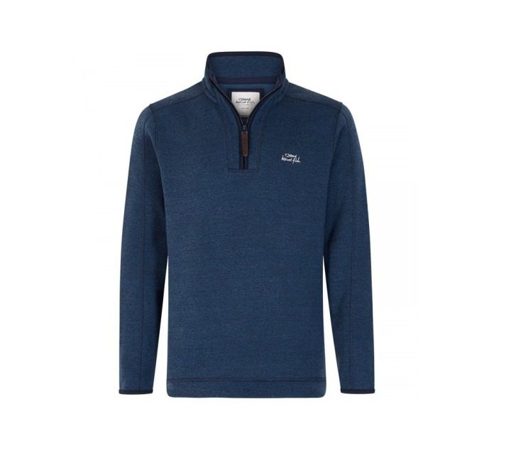 Weird Fish Talas 1/4 Zip Soft Knit Fleece - Ensign Blue