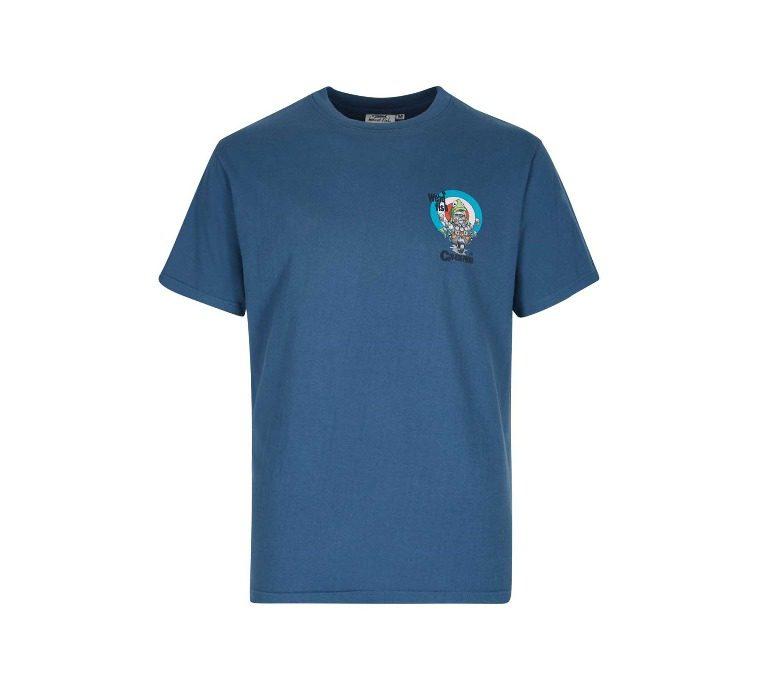 Weird Fish Cod-Roe-Phenia Artist T-Shirt - Ensign Blue