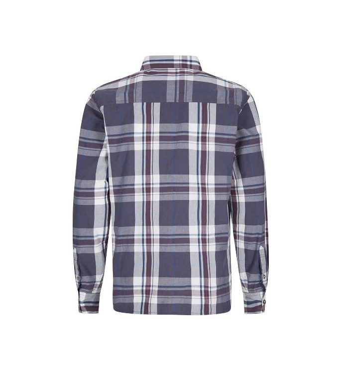 Weird Fish Ezra Long Sleeve Check Shirt - Night Shade