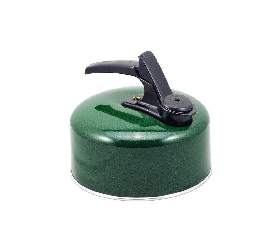 1 Litre Aluminium Kettle in green