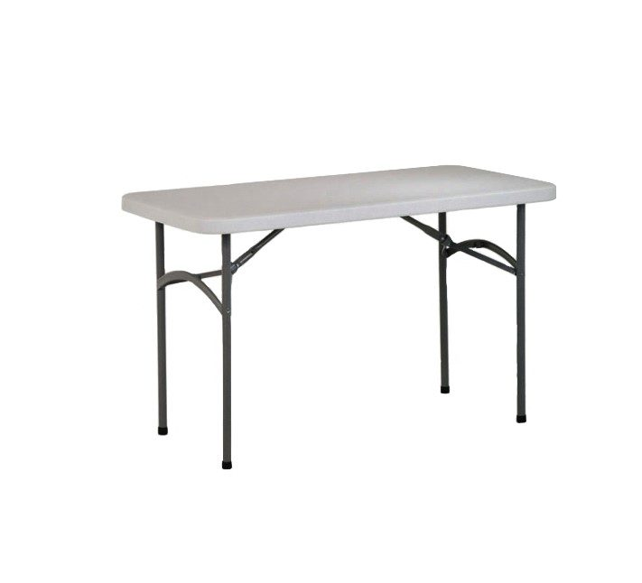 4ft Solid White Table