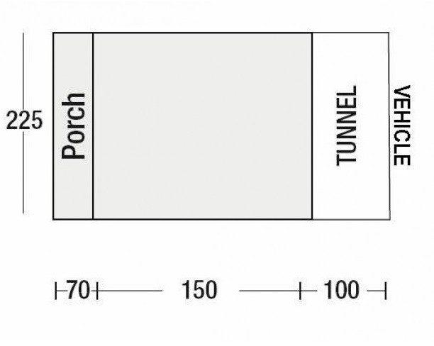 Sunncamp Silhouette Floor Plan