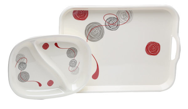 Quest Calypso 2 piece Tray and Platter
