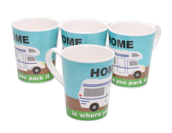 Quest Mortorhome 4 pack Mug Set