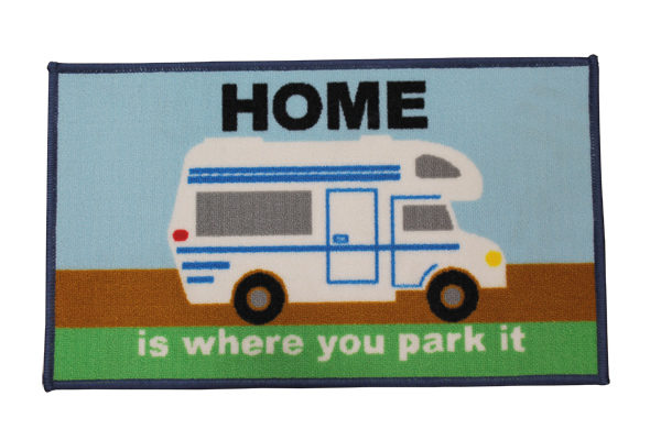 Quest Home is where you park it Motorhome Mat
