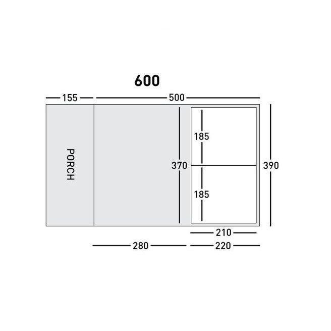 Sunncamp Invadair 600 floorplan