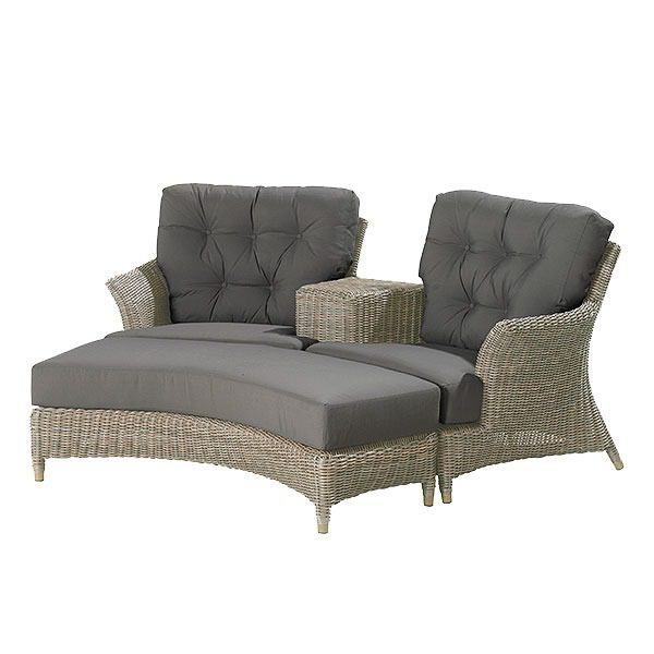 4 Seasons Outdoor Valentine Love Seat with Footrest