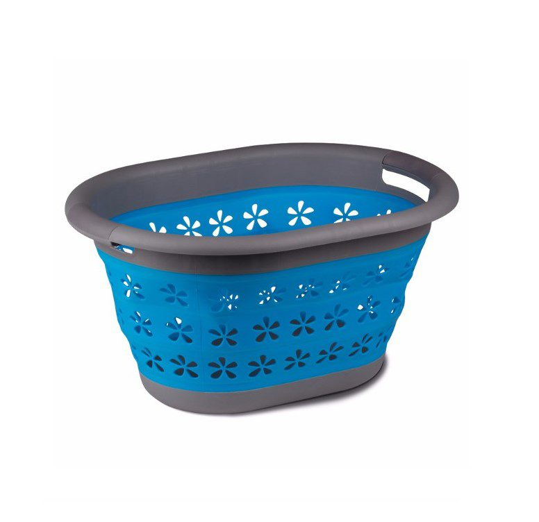 Kampa collapsible laundry basket - blue