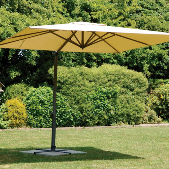 Harbo Roma Deluxe 3x3m Square Parasol - Taupe