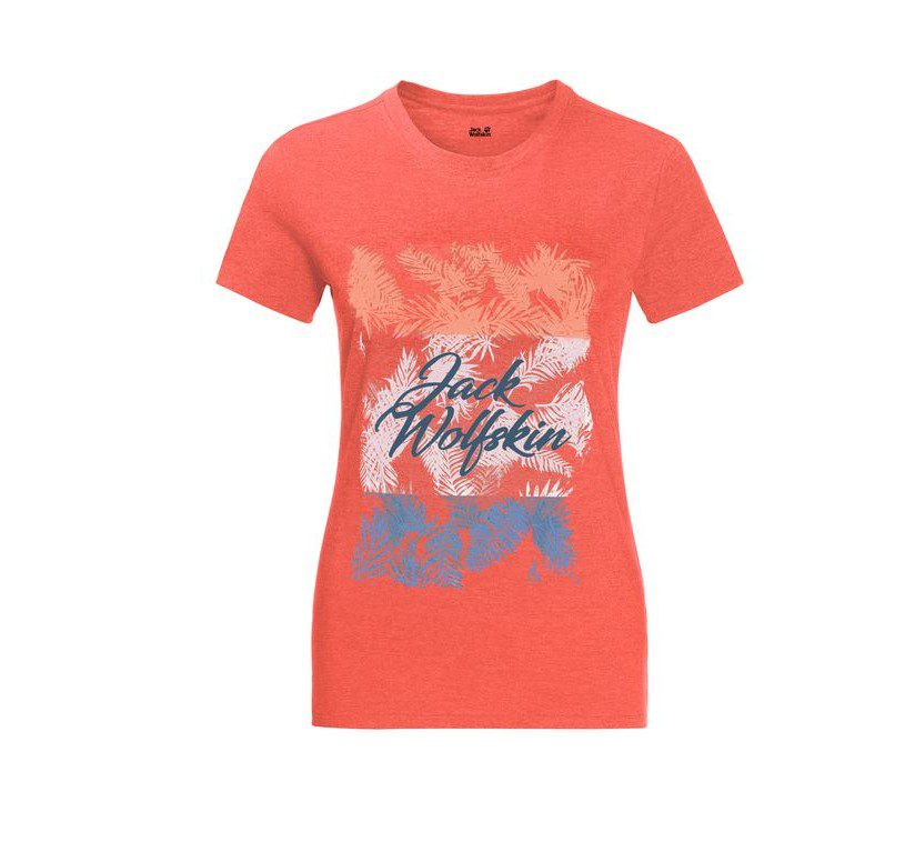Jack Wolfskin Women's Royal Palm TShirt - Hot Coral