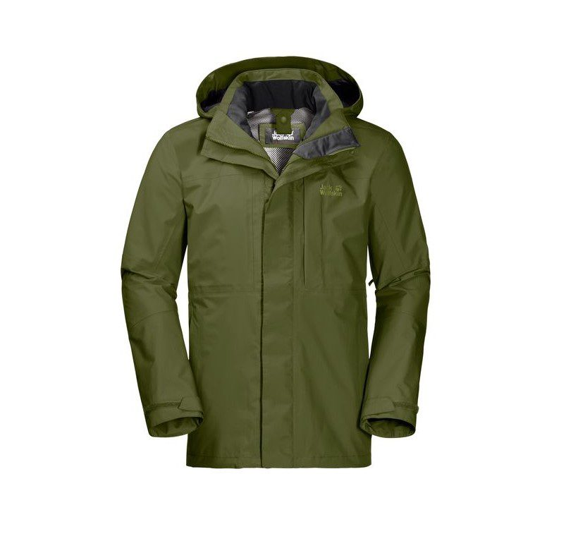 Jack Wolfskin Mens Echo Peak Flex Jacket - Cypress Green