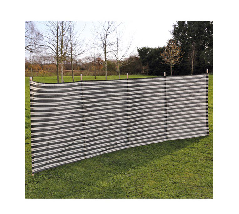 Quest Orkney 5 Pole Windbreak - Charcoal stripe