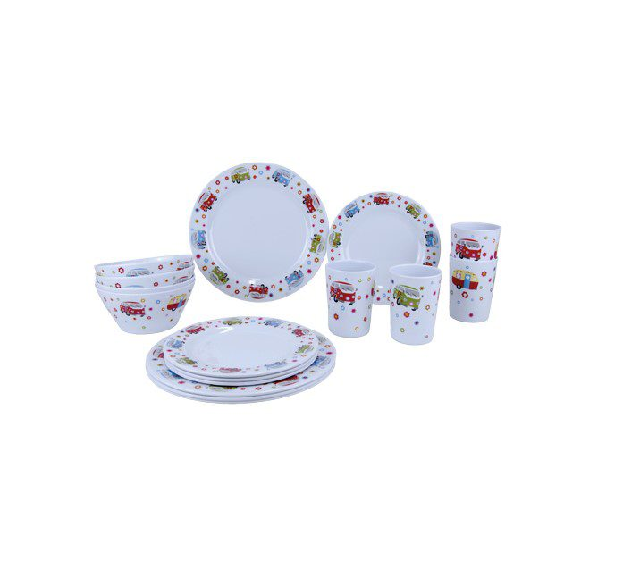 Quest Gimex 16 piece melamine set - summer camping