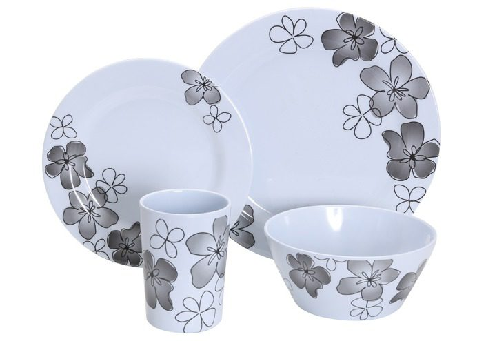 Gimex 16Pcs Tableware Set Summer Flowers