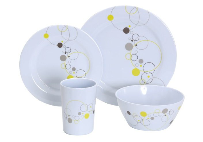 Gimex 16Pcs Tableware Set Summer Drops Lime