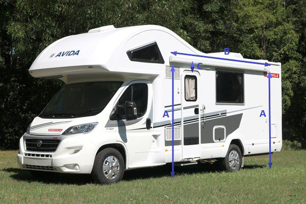 Motorhome Awning Measurement Guide