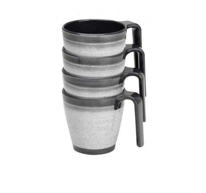 Flamefield Granite Grey Stacking Mugs