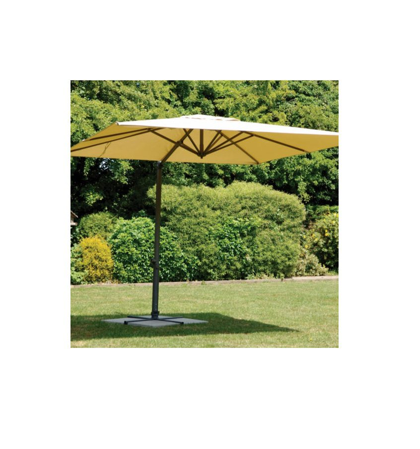 Harbo Roma Deluxe 3X3M Square Parasol Taupe 1