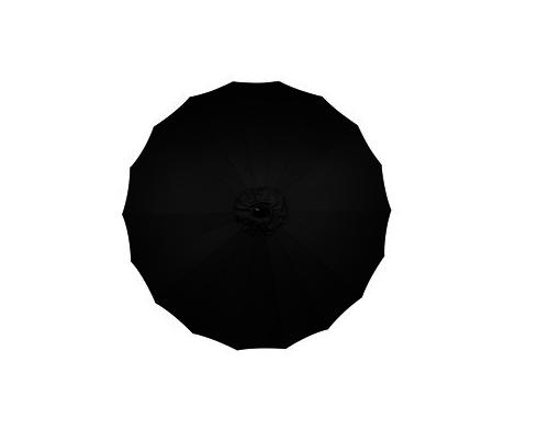 Camelot Aluminium Singapore 2.3m Parasol Contemporary Black - CAM0675