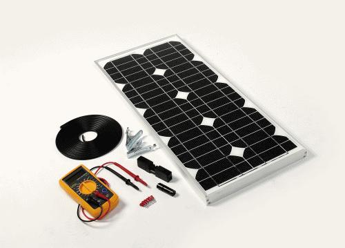 Solar Technology 43watt Solar Panel Kit with Voltage Regulator - STP043MA