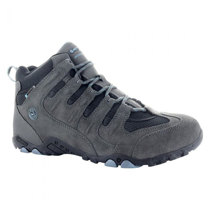 O010007 Grey Blue Hi Tec Mens Quadra Mid Waterproof Multi Sport Boots 1 1