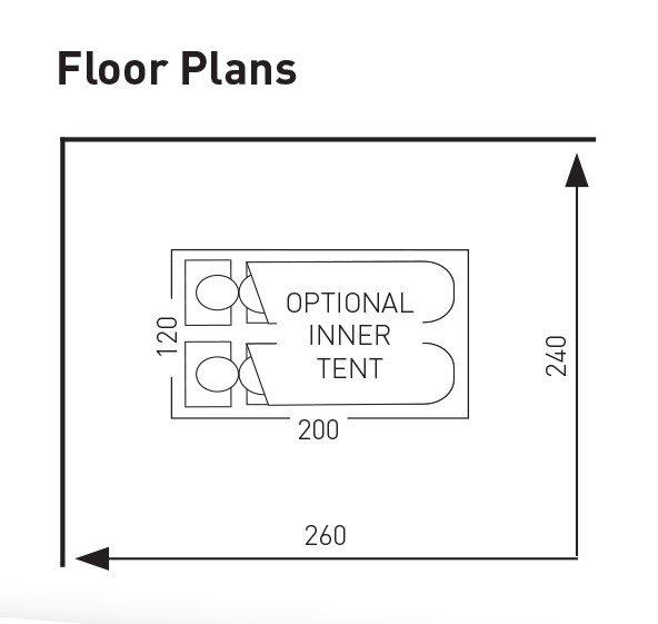 Swift Verao Air Van 260 Low Tall Floor Plan