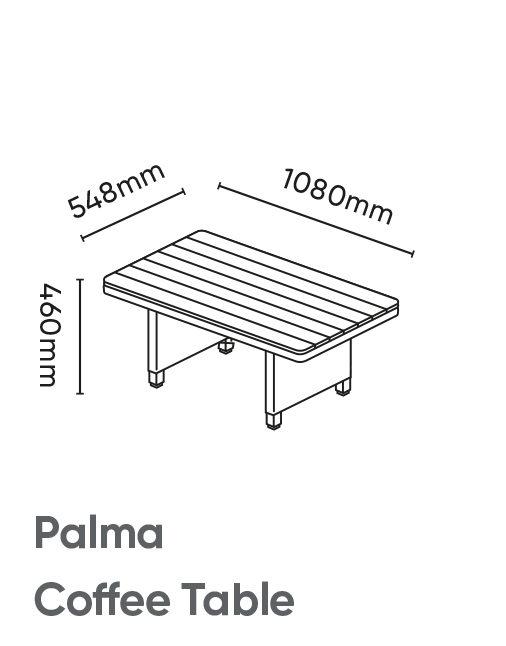 Palma Coffee Table Dimensions