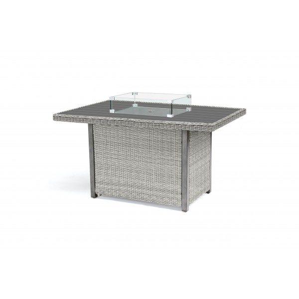 Kettler Palma Mini Set with Firepit Table - White Wash