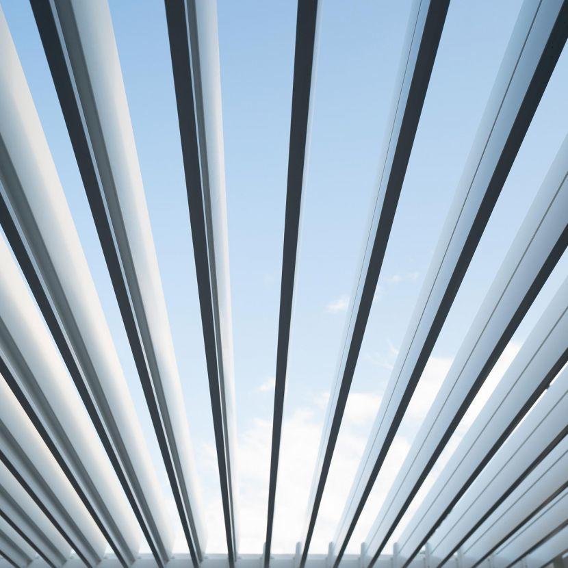 Nova Titan 3m Square Aluminium Pergola - White