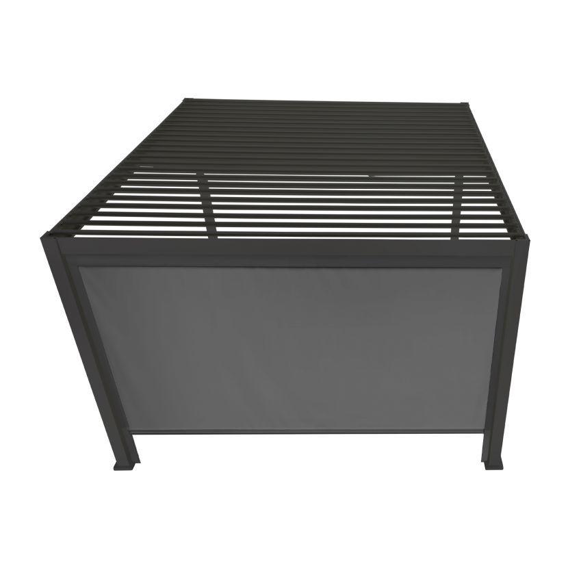 Privacy Screen for Nova Titan 3m Square Aluminium Pergola - Grey
