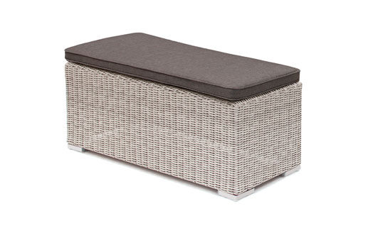 Kettler Madrid Bench - White Wash