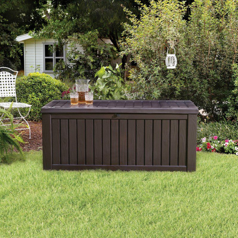 Garden Nation Wood Style Rockwood Jumbo Deck Box