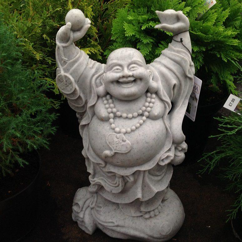 Enigma Hands up Buddha Statue Granite