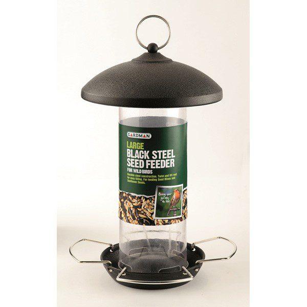 Gardman Large Black Steel Seed Feeder (A01513)
