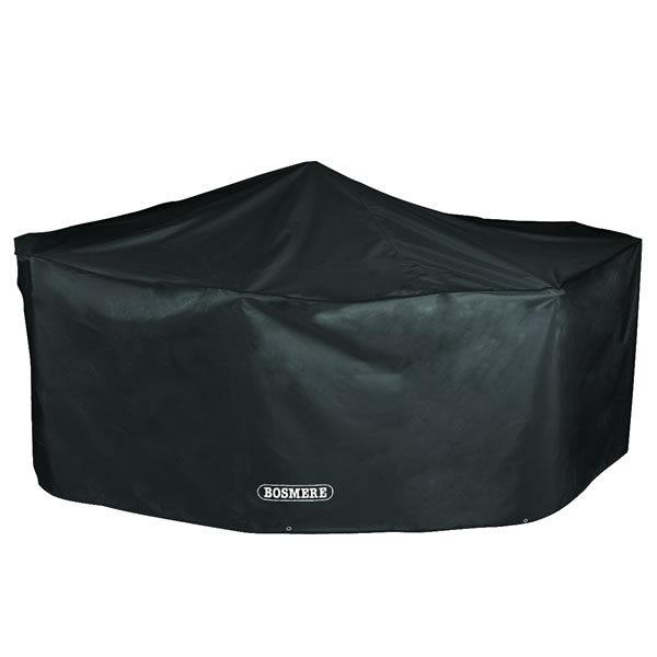 Bosmere Storm Black 4 Seater Rectangular Patio Set Cover